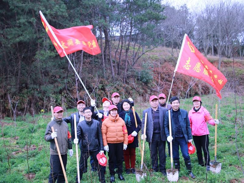 县委党校组织开展义务植树活动