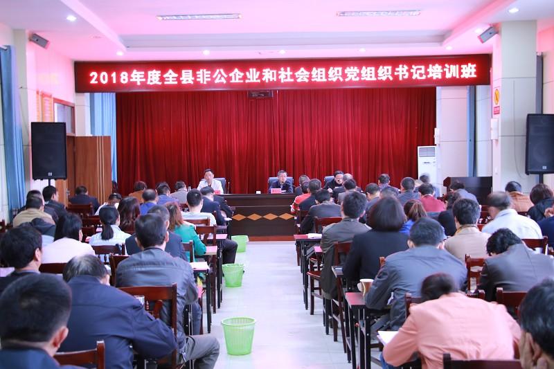 全县非公企业和社会组织党组织书记培训班举行