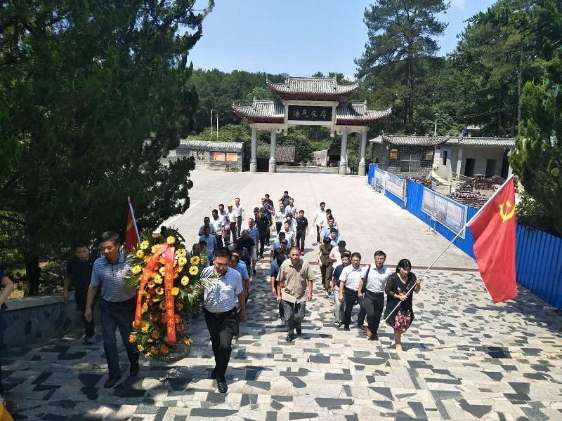 太湖县2018年第一期科级干部进修班赴岳西开展红色教育活动